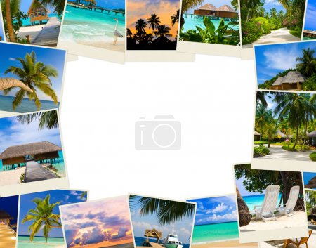 Photo for Frame made of summer beach maldives images - nature and travel background - Royalty Free Image