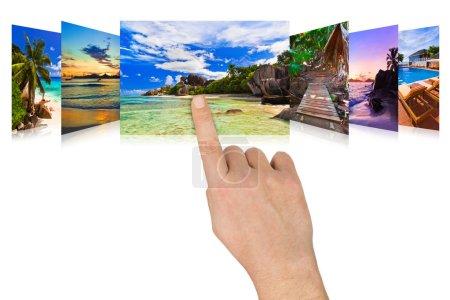 Photo pour Faire défiler à la main les images de plage d'été - concept nature et tourisme (mes photos ) - image libre de droit