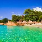 Beach Anse Lazio at Seychelles - nature background...