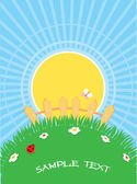 natural background with summer landscape.Vector cartoons for tex
