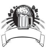 Glasses of beerVector symbol of Illustration for design