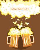 Glasses of beerVector color symbol of Illustration for design