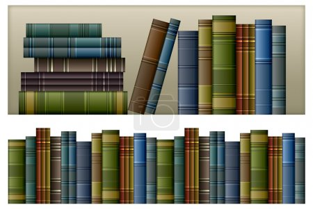Illustration for Old vintage books isolated on white, vector illustration - Royalty Free Image