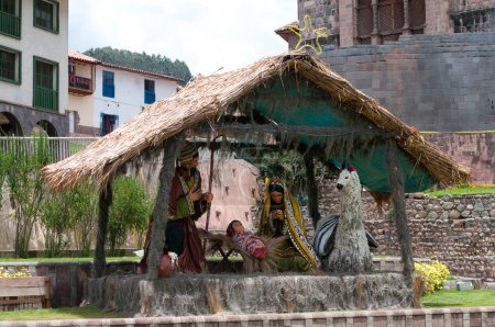 Holy family in Cusco