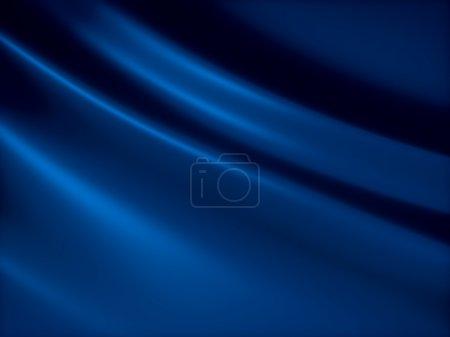 Photo pour Doux fond métallique brillant bleu avec lignes - image libre de droit