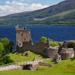 Ruins of Urquhart Castle near Loch Ness like...