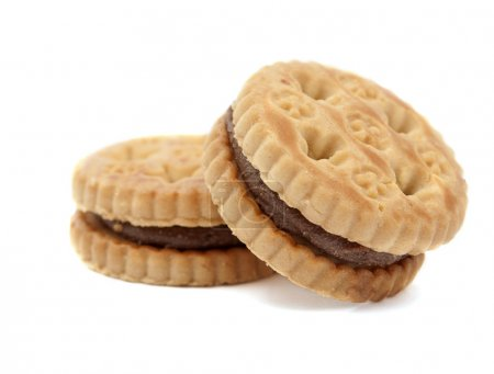 Biscuits with chocolate filling