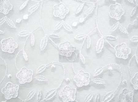 Texture of the wedding dress