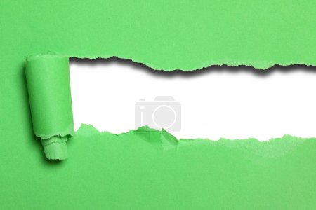 Green paper background with space for your own text