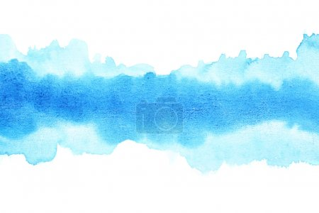 Photo for Blue watercolor brush strokes, may be used as background - Royalty Free Image