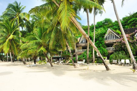 Photo for Beautiful beach with mansion, Philippines - Royalty Free Image