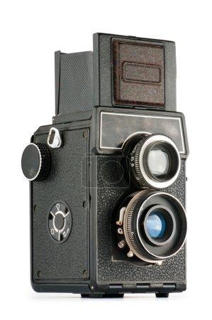 Vintage film camera isolated on white