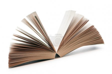 Photo pour Livre ouvert isolé sur blanc - image libre de droit