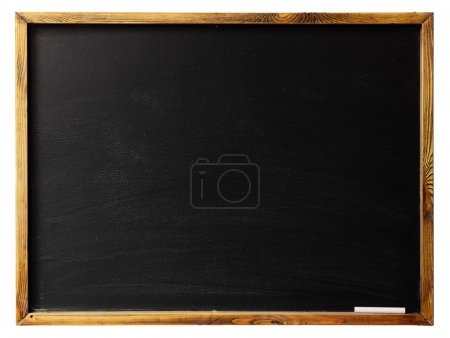 Photo for Blank chalkboard in wooden frame isolated on white - Royalty Free Image