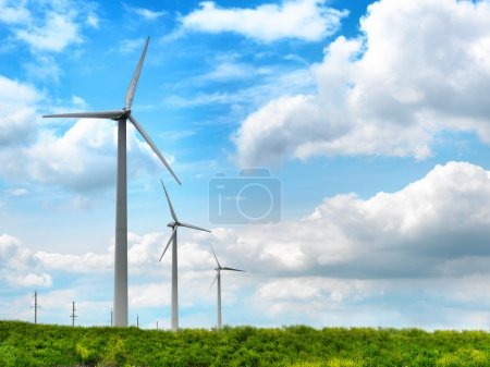 Wind mill turbine in a farmland