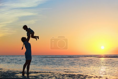 Family at sunset