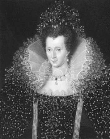 Photo pour Elizabeth I (1533-1603) on engraving from the 1800s. Queen of England and Queen of Ireland 1558-1603. Engraved by W. Holl and published in London by Charles Kni - image libre de droit