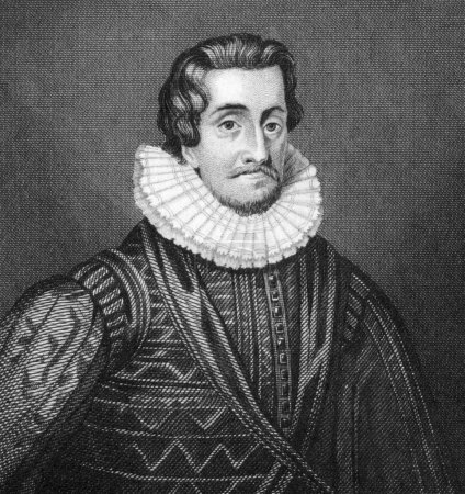 Photo pour James I (1566-1625) on engraving from 1830. King of Scots as James VI during 1567-1625 and King of England and Ireland as James I during 1603-1625. Published in - image libre de droit