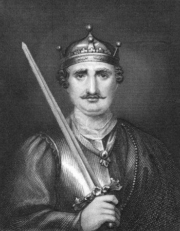 Photo pour Guillaume le Conquérant (1027-1087) sur la gravure de 1830. roi d'Angleterre en 1066-1087. publié à Londres par thomas kelly. - image libre de droit