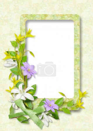 Framework for photo with flowers