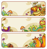 Vector set of decorative autumnal banners3