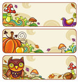 Vector set of decorative autumnal banners1