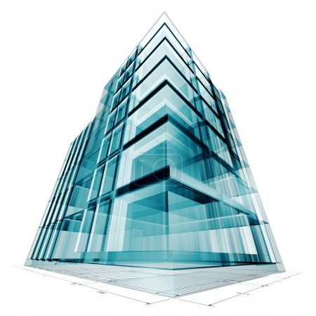 Photo for Building project. High resolution 3d render - Royalty Free Image