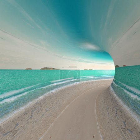 Travel concept. 3d render landscape...