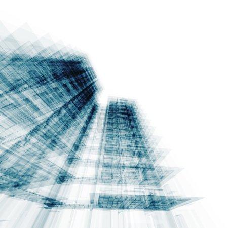 Foto de Edificio moderno. proyecto de arquitectura conceptual - Imagen libre de derechos