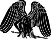 Gefallener Engel mit Schwert