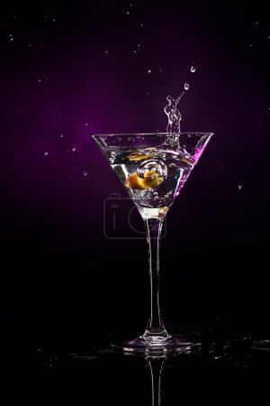 Photo for Martini over dark background - Royalty Free Image
