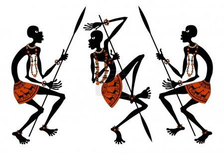 Illustration pour Africains - image libre de droit