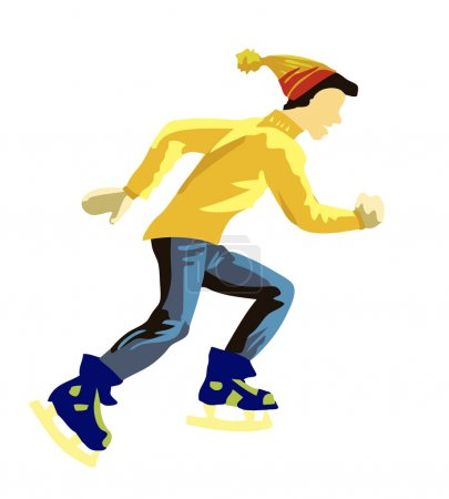 Illustration skater on white background...