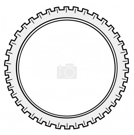 Illustration for Vector silhouette cogwheel on white background - Royalty Free Image