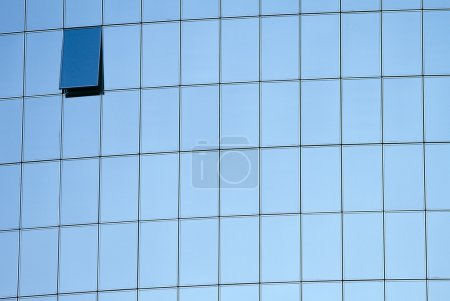 Blue windows of modern building