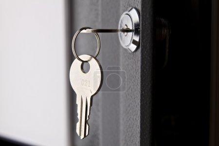 Key in the lock of the door