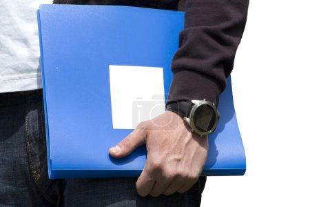 Documents folder hand human