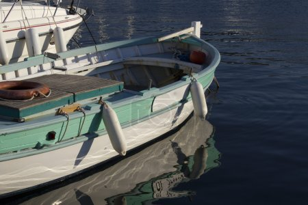 Boat in the Port of Saint-Florent, Corsica