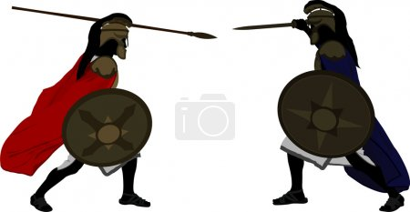 Achilles and Hector. vector illustration...
