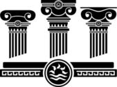 Ionic columns and pattern