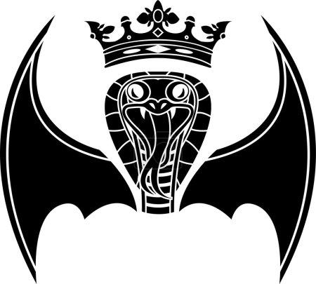 Illustration pour Serpent aux ailes. illustration vectorielle - image libre de droit