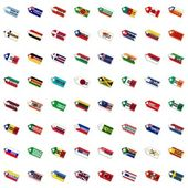 Labels in national colors