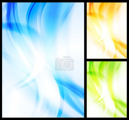 Illustration for Vector illustration of abstract waves. Vector eps 10 - Royalty Free Image