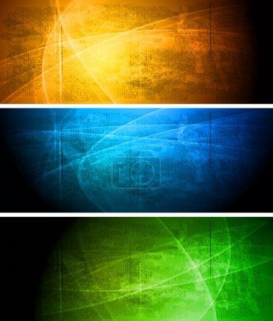 Illustration for Set of vibrant grunge banners. Eps 10 vector illustration - Royalty Free Image