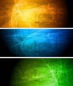 Set of vibrant grunge banners Eps 10 vector illustration