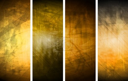 Illustration for Vector textural banners in grunge style. Eps 10 - Royalty Free Image