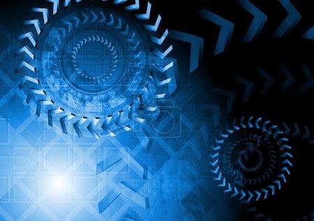 Technical blue design