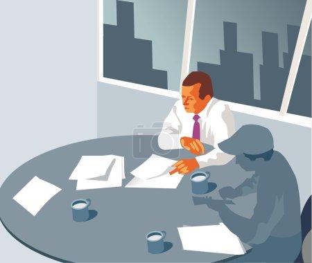 Photo pour Des hommes d'affaires à une table ronde - image libre de droit