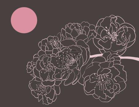 Illustration for Sakura flowers - Royalty Free Image