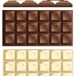 White and dark chocolate bar...